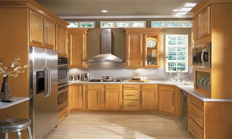 light birch kitchen cabinets light honey birch arched