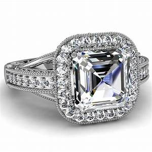 asscher cut engagement rings engagement rings depot With asscher cut diamond wedding rings