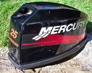 Early 2000 U0026 39 S Mercury 25 Hp Outboard Motor Engine Cover Cowling