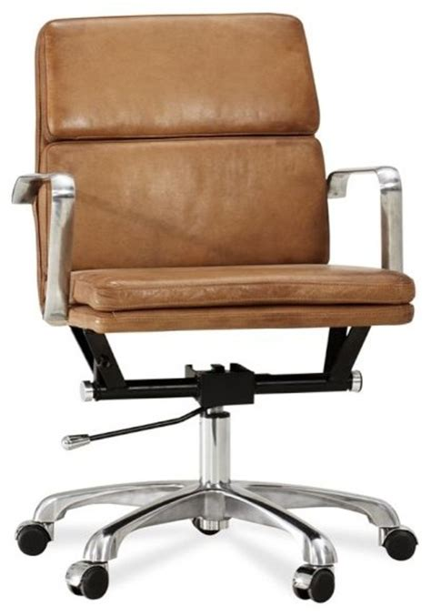modern leather desk chair nash leather swivel desk chair modern office chairs