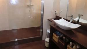 plongez vous dans l39univers du beton cire decoratif With salle de bain chocolat et beige