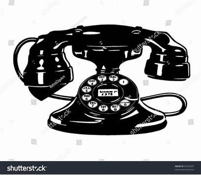 Telephone Clipart Retro Illustration Vector Illustrations Shutterstock