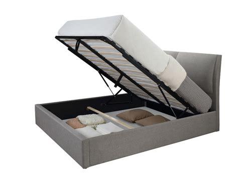 valet de chambre design lit coffre alceo tissu gris clair ou anthracite 160 200cm