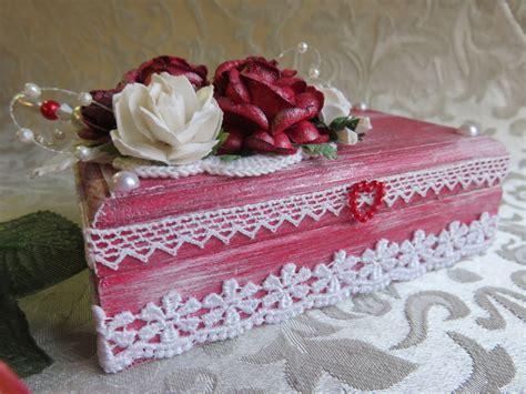 shabby chic trinkets shabby chic red rose trinket box