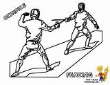 Coloring Pages Fencing Olympic Printable Sports Games Summer Olympics Fencer Yescoloring Fence Colouring Activites Fencers Template Results sketch template