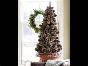 tree made from pine cones diy