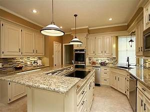 santa cecilia granite white cabinets backsplash ideas With what kind of paint to use on kitchen cabinets for white and gold wall art
