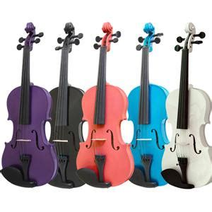 colored violins mendini solid wood violin with bow