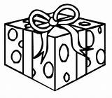 Box Gift Christmas Coloring Pages Template Present Boxes Ball Presents Printable Getcoloringpages Templates sketch template