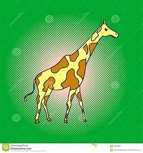 Giraffe Pop Art Vector Illustration Stock Vector - Image ...