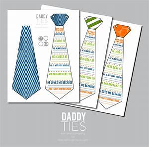 Daddy Ties- A Father's Day Printable Card - Kiki & Company