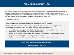 Mckinsey Cover Letter Example Mckinsey Resume Sample