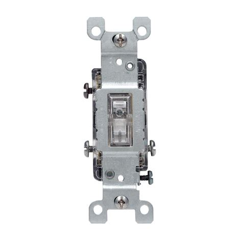 Leviton Amp Way Toggle Light Switch Clear