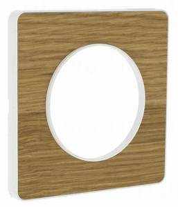 Plaque Schneider Odace : plaque schneider electric odace touch 1 poste bois natur ~ Dallasstarsshop.com Idées de Décoration