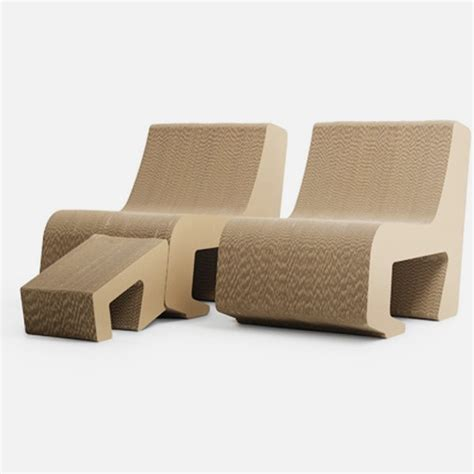 simple and eco friendly chair that made of cardboard