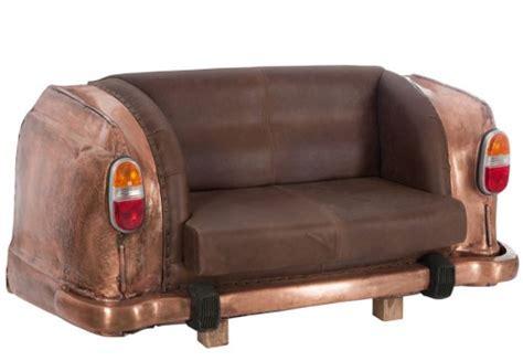 canape original canapé original 2 places auto métal cuir cuivre marron