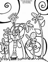 Coloring Birdhouse Pages Adult Happy Getcolorings Printable Whimsical Getdrawings Doodle sketch template