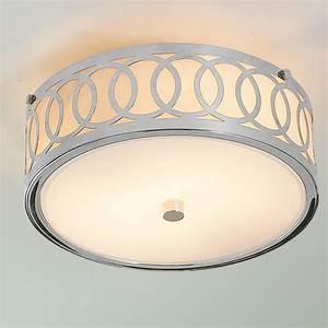 Small interlocking rings flush mount ceiling light