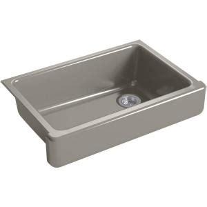 cast iron single bowl kitchen sink kohler whitehaven undermount farmhouse apron front 9383