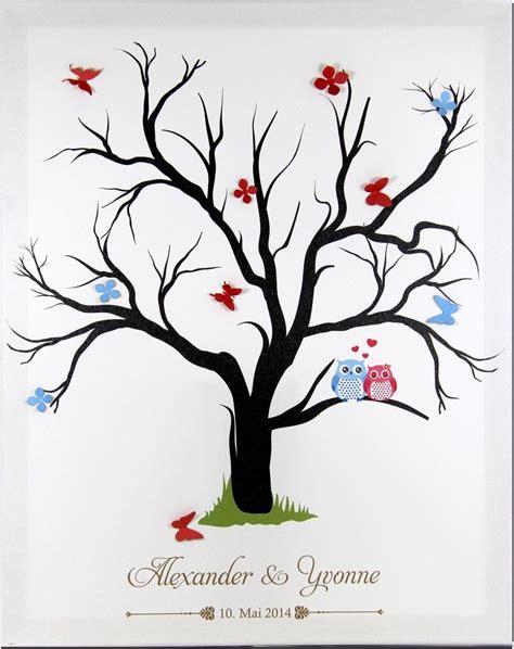 fingerabdruck leinwand fingerabdruckbaum wedding tree