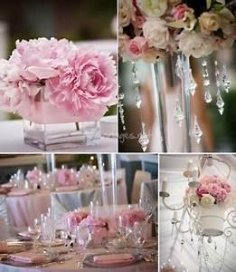 Deco Mariage Romantique : decoration de mariage rose poudre et ivoire photo ~ Nature-et-papiers.com Idées de Décoration