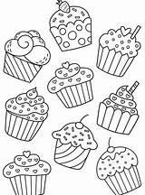 Para Cupcake Coloring Cupcakes Dibujos Pages Ice Cakes Birthday Drawings Sweets Colorear Bojanke Creams Cream Chart Drawing Colouring Bordar Sheets sketch template