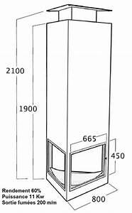 Cheminée Centrale Prix : chemin e centrale suspendue triangulaire au bois chemin e ~ Premium-room.com Idées de Décoration