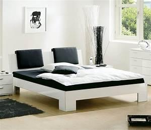 Bett Kopfteil Kissen : design bett black white auf rechnung bestellbar ~ Michelbontemps.com Haus und Dekorationen