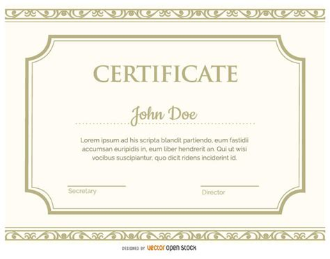 E Certificate Templates by Certificate Template Vector