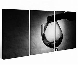 Wandbilder Küche Glas : leinwand 3 tlg schwarz wei wein flasche k che trinken glas bild wandbild 9a354 holz fertig ~ Whattoseeinmadrid.com Haus und Dekorationen