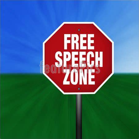 speech zone stop sign stock illustration