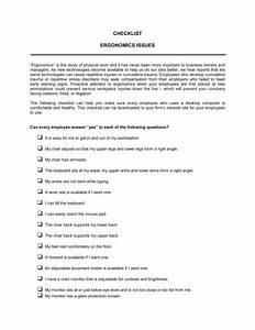 Checklist Ergonomics Template  U2013 Word  U0026 Pdf