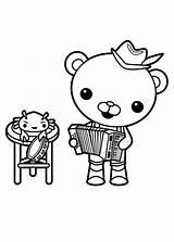 Octonauts Coloring Barnacles Captain Accordion Playing Clipart Drawing Clipartmag sketch template