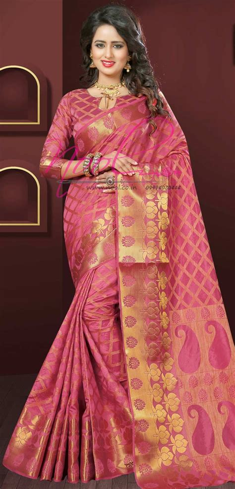 flipkart saree pink tussar silk marriage gift set
