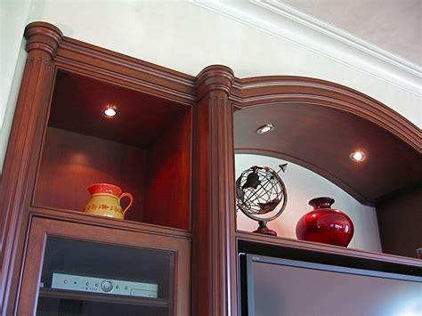 hand crafted arched cherry tv media storage entertainment