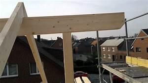 Dachstuhl Selber Bauen : massivholzhaus dachstuhl kehlbalkenmontage bauvorhaben ~ Whattoseeinmadrid.com Haus und Dekorationen