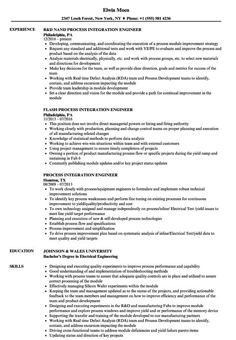 semiconductor process engineer sle resume free sign up
