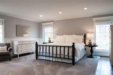 Modern White And Light Gray Master Bedroom