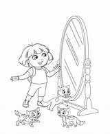 Coloring Mirror Pages Dora Door Explorer Coloringtop sketch template