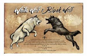 White Wolf Black Wolf Painting by Christopher Panza