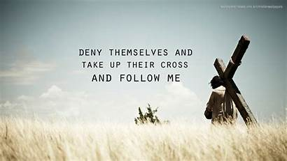 Follow Cross Christian Take Deny Themselves Wallpapers