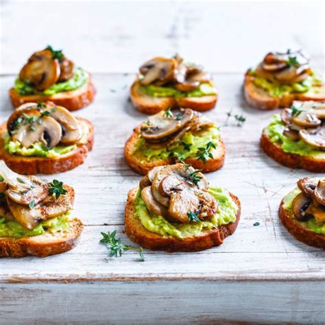 easy canapes and nibbles and avocado toasties recipe myfoodbook easy