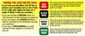 Autometer Sport Comp Tach Wiring Diagram