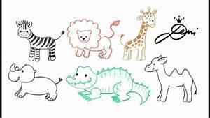 Tiere Zeichnen Einfach Einfache Tiere Zeichnen Kinderleicht Hasen