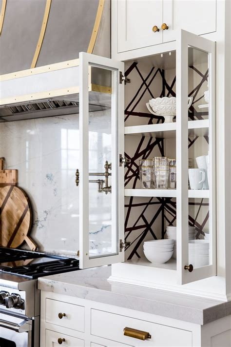 wallpaper inside kitchen cabinets best 25 wallpaper cabinets ideas on bead