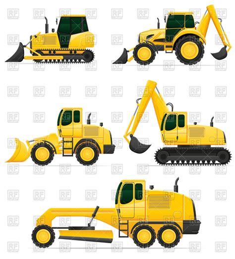 car equipment  construction works bulldozer excavator