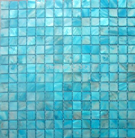 2017 Shell Mosaic Tiles, Blue Mother Of Pearl Tiles