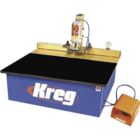 spindle table pneumatic pocket hole machine grizzly