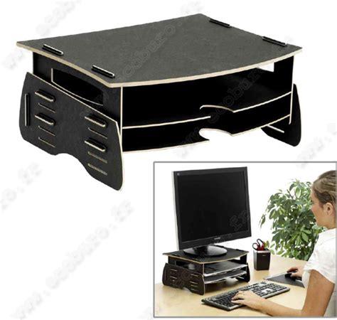 recyclage mobilier bureau support fibre de bois pour écran d 39 ordinateur tft earth