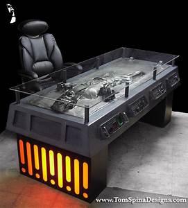 Star Wars Couchtisch : star wars han solo carbonite desk custom furniture tom spina designs tom spina designs ~ Frokenaadalensverden.com Haus und Dekorationen